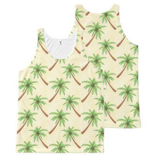 Camiseta De Tirantes Con Estampado Integral Palmera