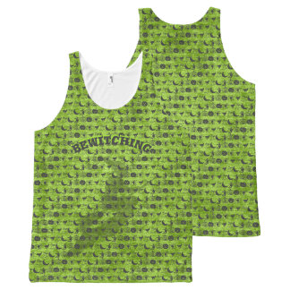 """Camiseta De Tirantes Con Estampado Integral Personalice: Arte negro/verde el """"Bewitching"""" de"""