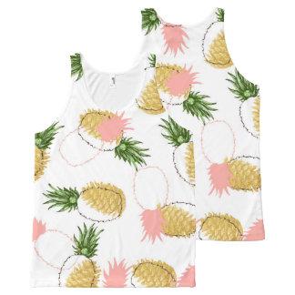 Camiseta De Tirantes Con Estampado Integral Piñas y conos del pino
