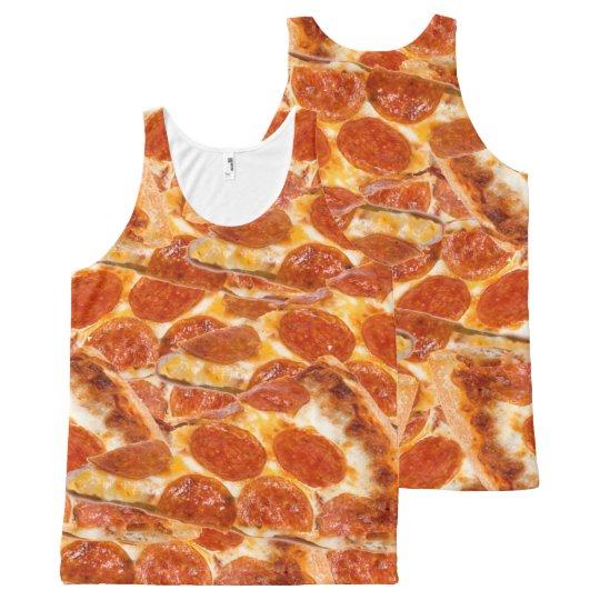 Camiseta De Tirantes Con Estampado Integral Pizza de salchichones