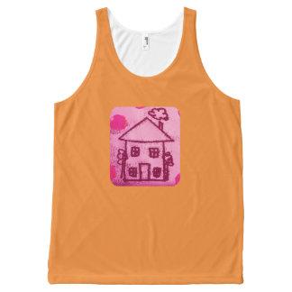Camiseta De Tirantes Con Estampado Integral Poca casa