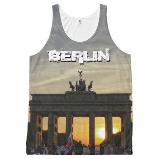 Camiseta De Tirantes Con Estampado Integral Puerta de Brandeburgo, puesta del sol, BERLÍN