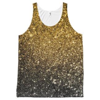 Camiseta De Tirantes Con Estampado Integral Purpurina de Ombre que chispea