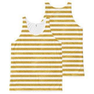 Camiseta De Tirantes Con Estampado Integral Raya elegante del oro - personalizado su color