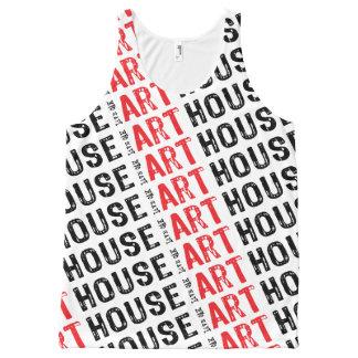 Camiseta De Tirantes Con Estampado Integral Rojo de la casa del arte
