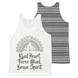 Camiseta De Tirantes Con Estampado Integral Sensación valiente