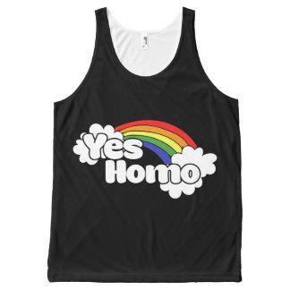 Camiseta De Tirantes Con Estampado Integral Sí homo