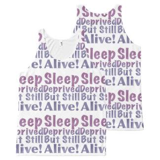 Camiseta De Tirantes Con Estampado Integral Sueño privado pero aún vivo en púrpuras