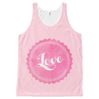 Camiseta De Tirantes Con Estampado Integral Tipografía del amor del vintage