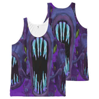 Camiseta De Tirantes Con Estampado Integral Top de acuario hambriento