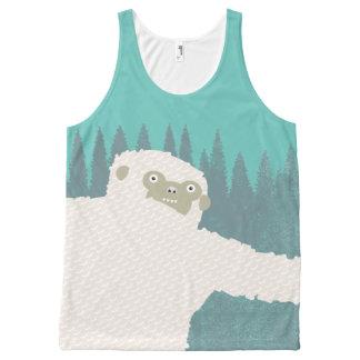 Camiseta De Tirantes Con Estampado Integral Verde del abrazo de Yeti