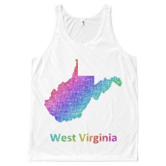 Camiseta De Tirantes Con Estampado Integral Virginia Occidental
