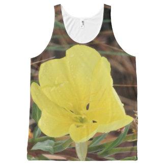 Camiseta De Tirantes Con Estampado Integral Wildflower amarillo