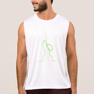 Camiseta De Tirantes Contorno de una liebre verde clara