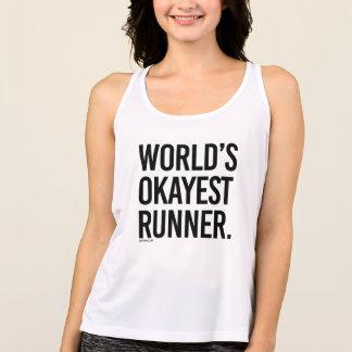 Camiseta De Tirantes Corredor de Okayest del mundo - .png