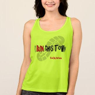 Camiseta De Tirantes Corro esta ciudad - todo el tanque del deporte