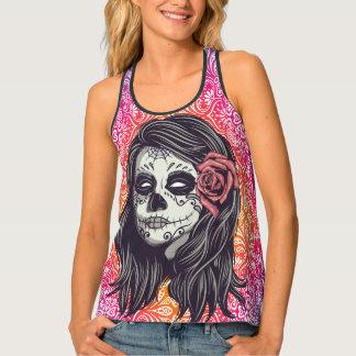 Camiseta De Tirantes Cráneo personalizado del azúcar del arco iris, Los