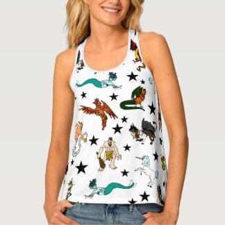 Camiseta De Tirantes Criaturas y estrellas de la fantasía