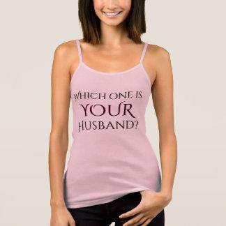 Camiseta De Tirantes Cuál es SU libertino del marido