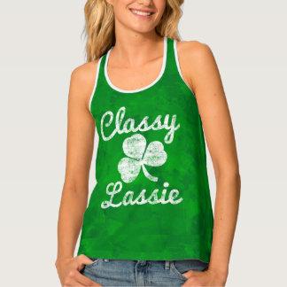 Camiseta De Tirantes Día con clase del St. Patricks del Lassie del