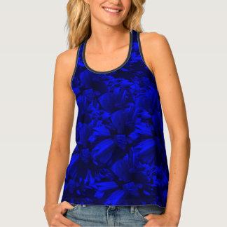 Camiseta De Tirantes Diseño abstracto azul A202 y negro rico