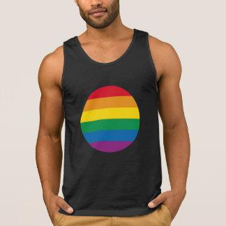 Camiseta De Tirantes Diseño colorido del arco iris del orgullo el |
