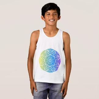 Camiseta De Tirantes Diseño floral étnico abstracto colorido de la