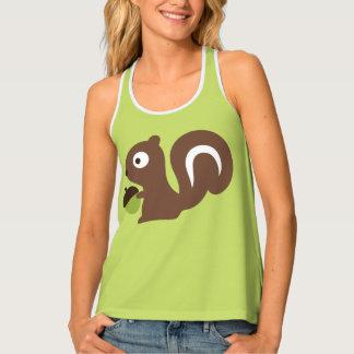 Camiseta De Tirantes Diseño lindo de la ardilla del bebé
