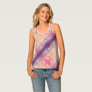 Camiseta De Tirantes Diseño rosado y púrpura elegante de la pendiente