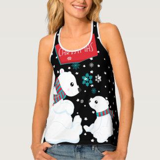 Camiseta De Tirantes Dos Felices Navidad de los osos polares