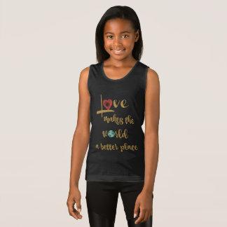 Camiseta De Tirantes El amor hace el mundo un mejor lugar (el texto del