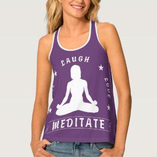 Camiseta De Tirantes El amor vivo de la risa Meditate el texto femenino