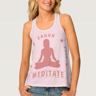 Camiseta De Tirantes El amor vivo de la risa Meditate texto femenino