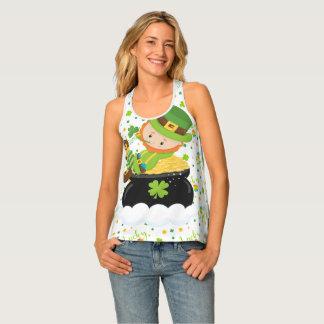 Camiseta De Tirantes El Leprechaun del arroz del St