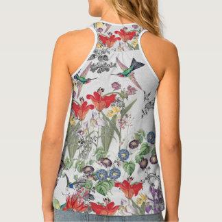 Camiseta De Tirantes El lirio de los animales de los pájaros del
