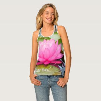 Camiseta De Tirantes el tanque de la yoga del racerback del loto