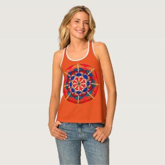 Camiseta De Tirantes El tanque de Racerback de las mujeres de encargo