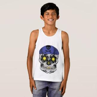 Camiseta De Tirantes El tanque del cráneo del caramelo del motorista de