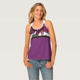 Camiseta De Tirantes El tanque del deporte de las mujeres tropicales de