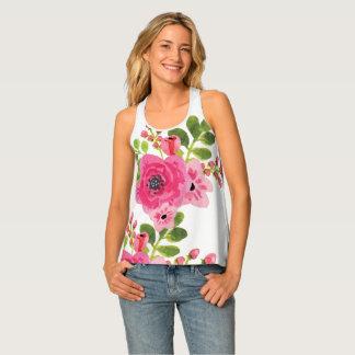 Camiseta De Tirantes El tanque floral de las señoras