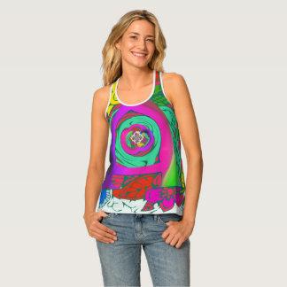 Camiseta De Tirantes El último diseño nervioso femenino floral elegante