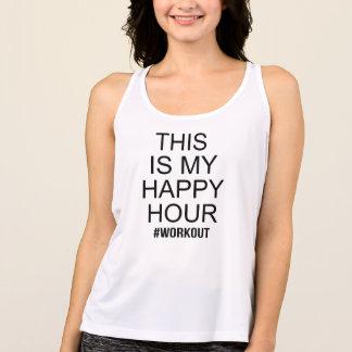Camiseta De Tirantes Éste es mi entrenamiento de la hora feliz
