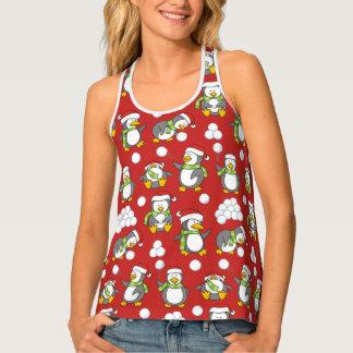 Camiseta De Tirantes Fondo de los pingüinos del navidad
