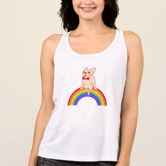 Camiseta De Tirantes Frenchie celebra mes del orgullo en el arco iris