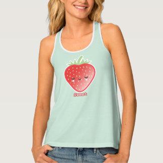 Camiseta De Tirantes Fresa de Kawaii