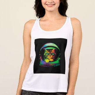 Camiseta De Tirantes Gato del inconformista - astronauta del gato -