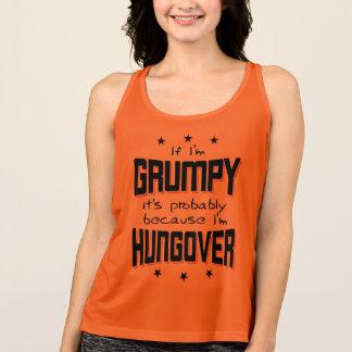 Camiseta De Tirantes GRUÑÓN porque es HUNGOVER (negro)