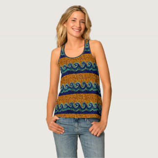 Camiseta De Tirantes La arena de oro y las ondas rizadas goteadas