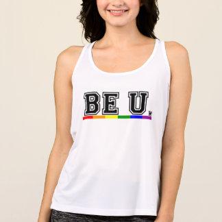 Camiseta De Tirantes La bandera del arco iris del orgullo gay sea usted