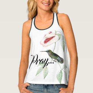 Camiseta De Tirantes ¡Las flores del colibrí ruegan dejaron a dios
